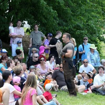 Lehrvortrag beim Kinder-Ritterfest auf der Ronneburg
